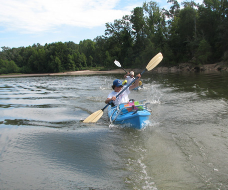 Canoeing on Toledo Bend in No Man's Land