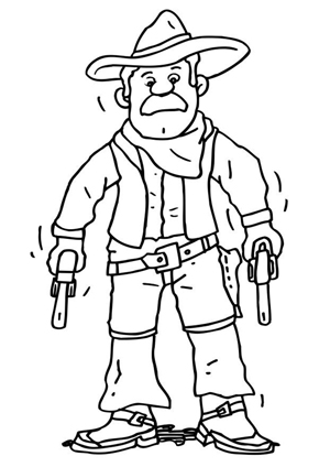 Cowboy Coloring Sheet - No Man's Land