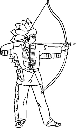 Native American Coloring Sheet - No Man's Land