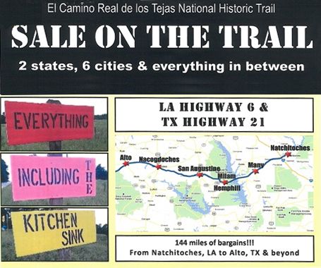 El Camino Real de los Tejas Sale on the Trail