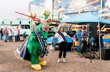 Celebrate with Gumbo Gator in Lake Charles
