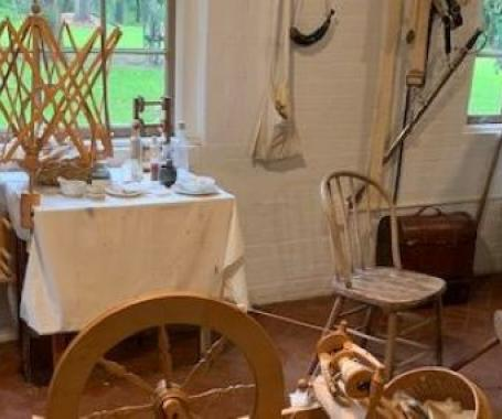 Fort Jesup Crafts of the Past - Spinning